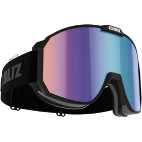 Bliz Split Nano Optics Gafas, matt black/brown-blue multi